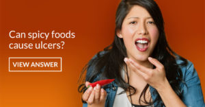 Can spicy foods cause ulcers?
